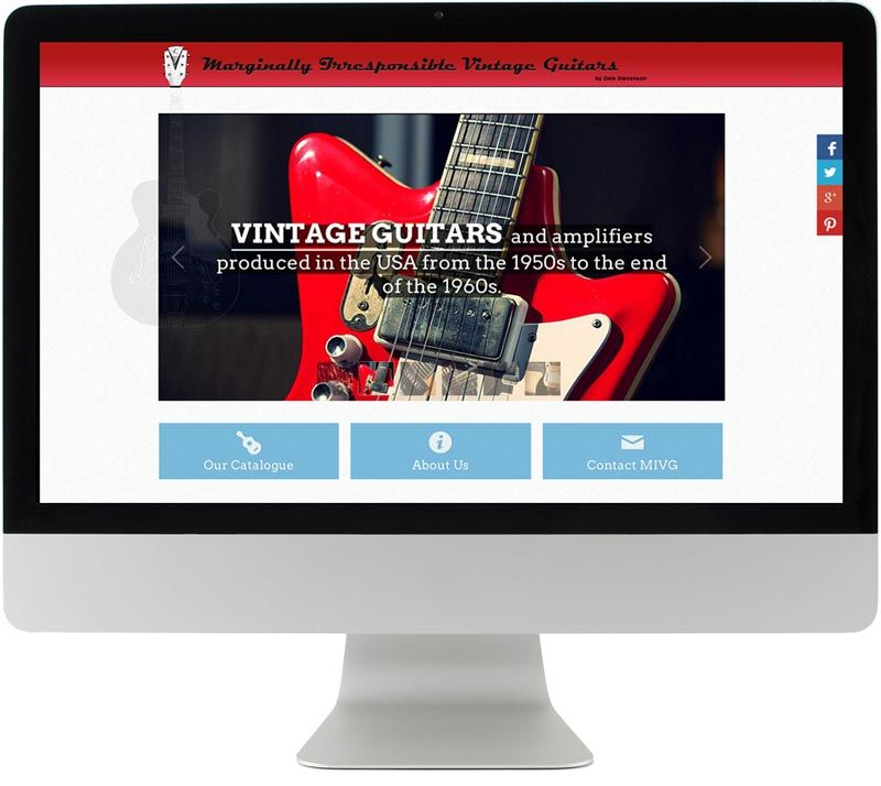 Marginally Irresponsible Vintage Guitars - Webdesign in Wien, Philipp Hofstätter